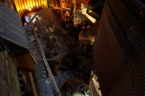 Looking down into the pit