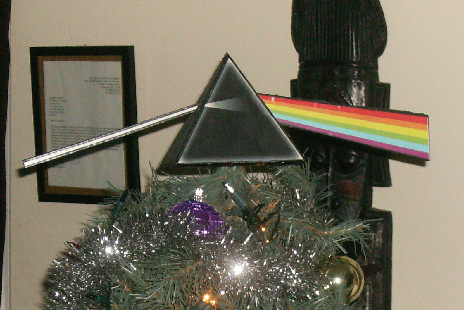 Have a Very Pink Floyd Christmas with this Dark Side of the Moon Tree Topper