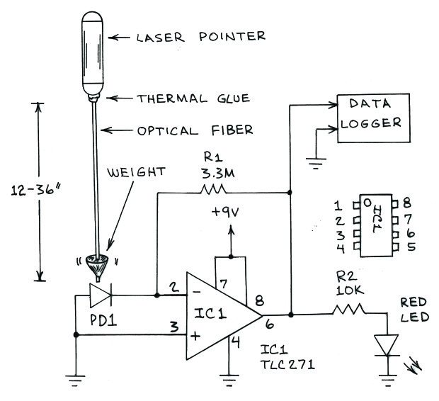 build a beautiful seismometer to detect quakes and explosions make Seismograph Read Out Diagram