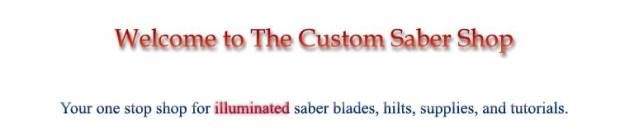 custom saber shop