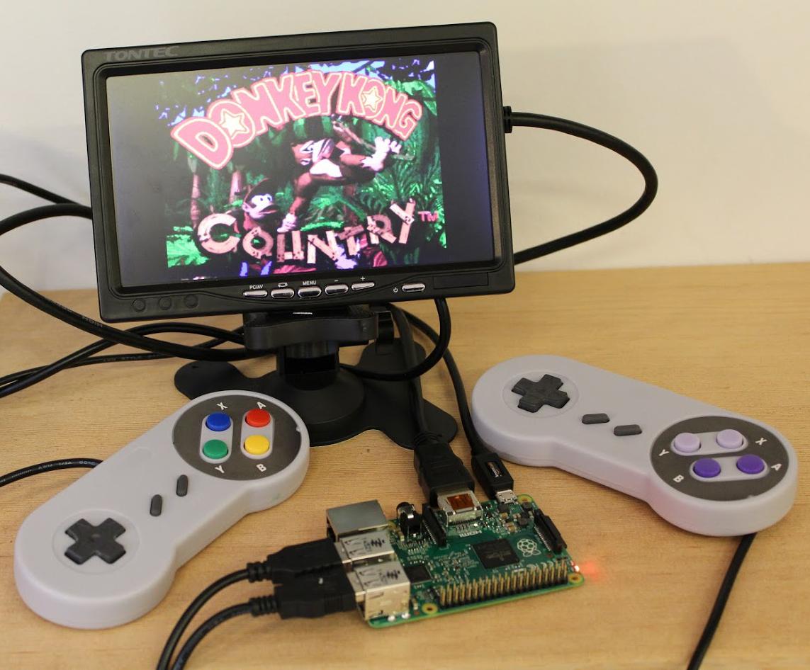 Retro pi console.