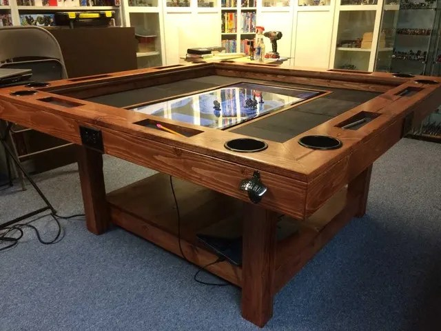 How To Build A HighEnd Gaming Table For As Little As 40 Make Awesome Wooden Gaming Table