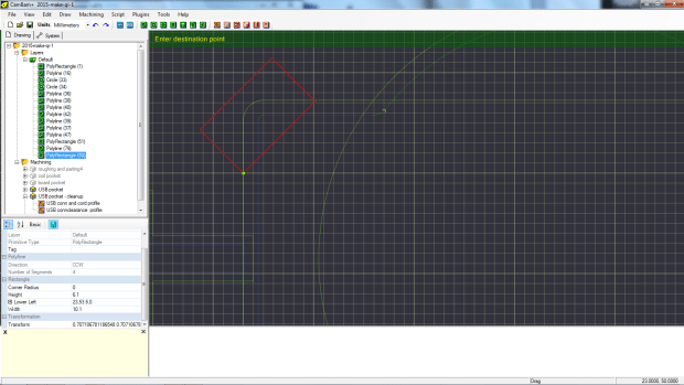 l - adding the angled rectangle 3
