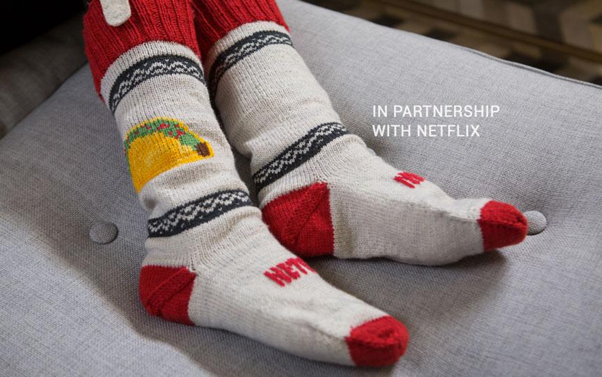 Make Show-Stopping Netflix Socks