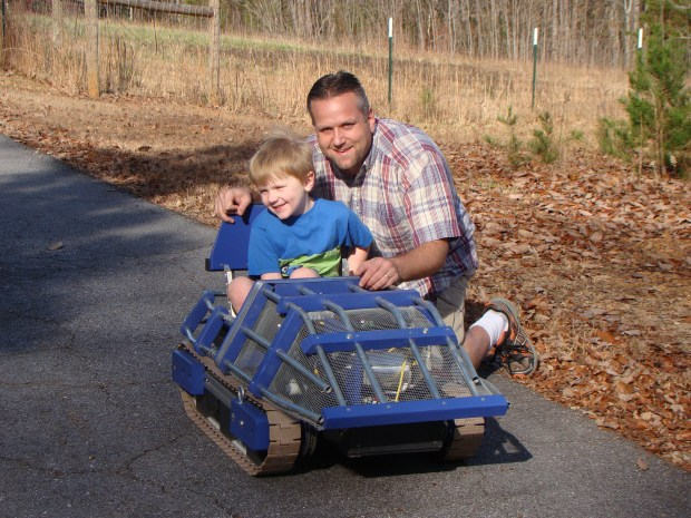 Build Your Kid a Drivable Electric Tank — Vehicles | Make: