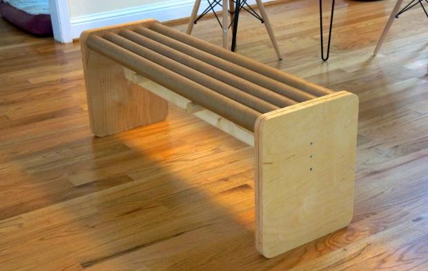 Cardboard Bench