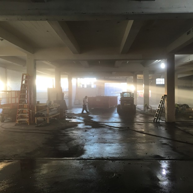 Demolition in the lower level. Photo by Will Holman.