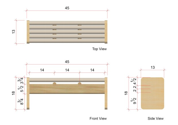 Cardboard Bench Measurements
