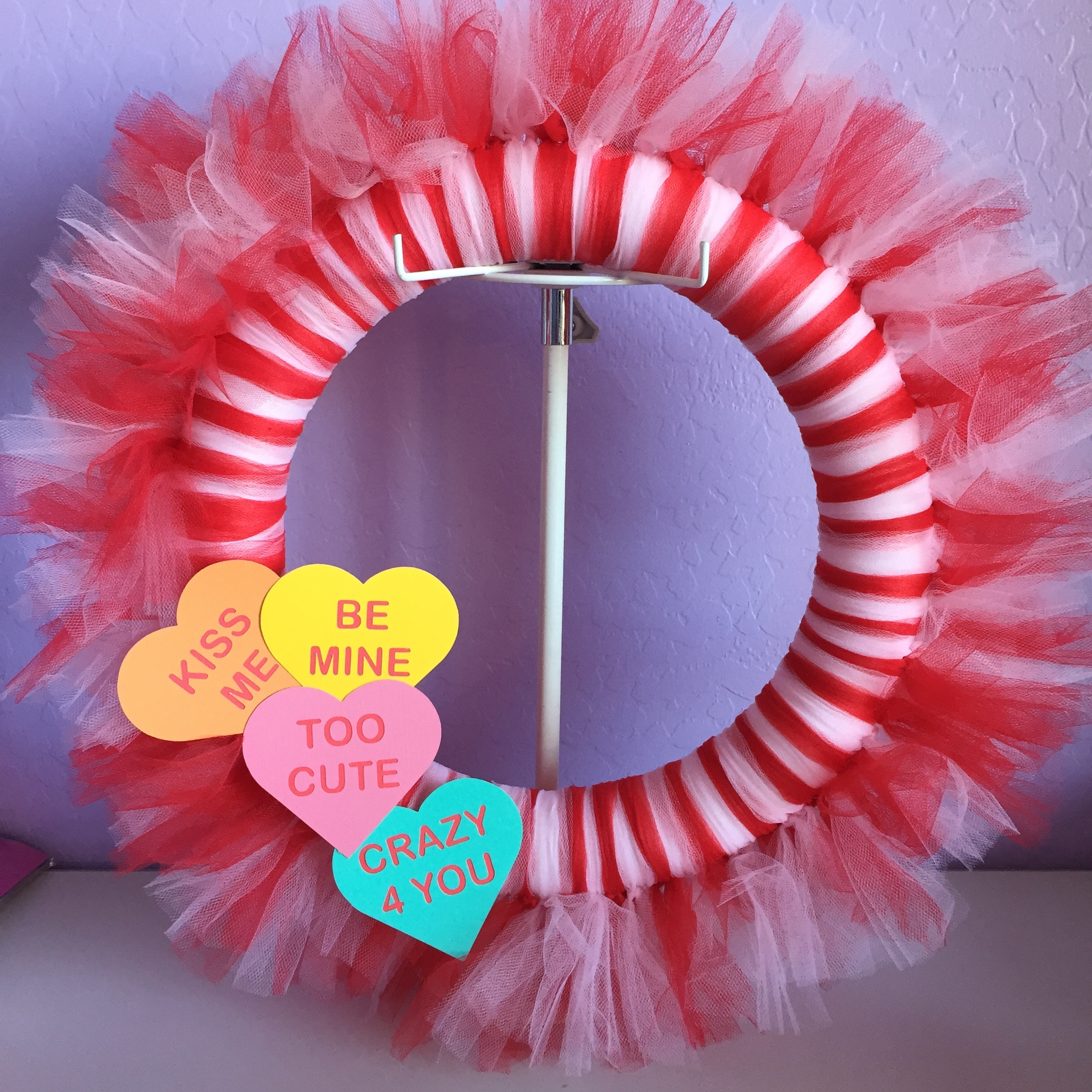 If You Know Me, You Know That I LOVE Tulle! I Just Love A Super Fun Tutu!  Today I Made A Tulle Valentineu0027s Day Wreath.