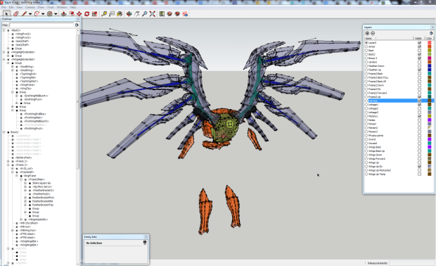 SketchUp was used to transition the Aether Wing design from the LoL character model to a functional adult-sized costume.