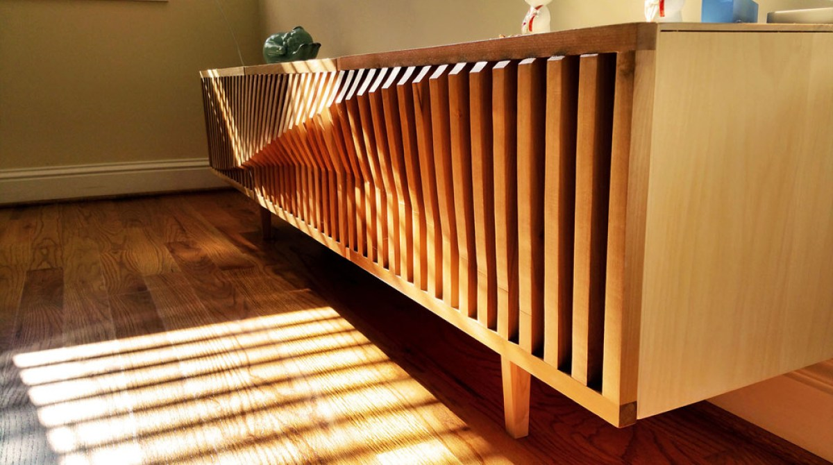 Download and Build This Sine Wave Inspired TV Console