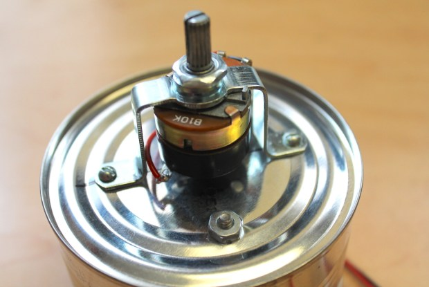 Potentiometer mounted on can