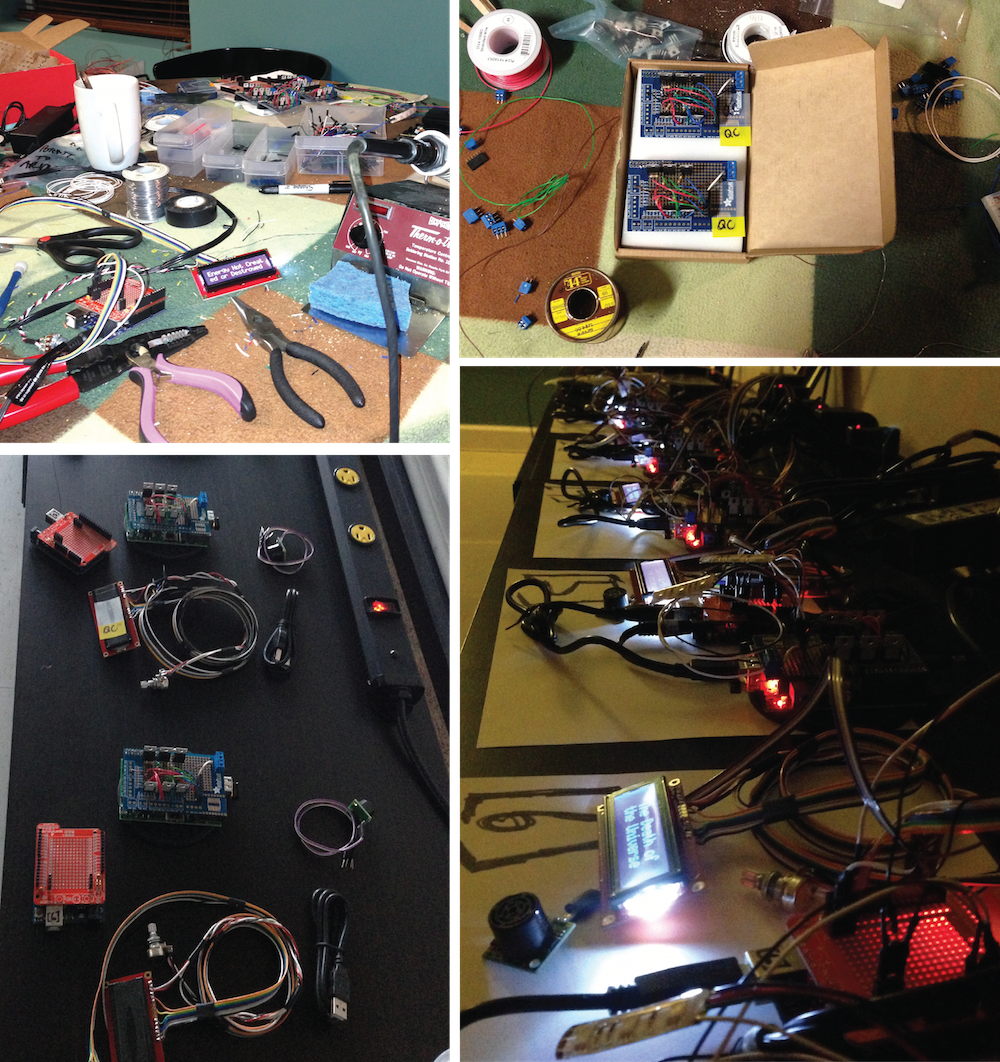 Go Behind The Scenes Of Installing An Interactive Led Art Exhibit Homemade 100 Hp Motor Controller For Electric Car Electronicslab That Time My Home Became Electronics Lab