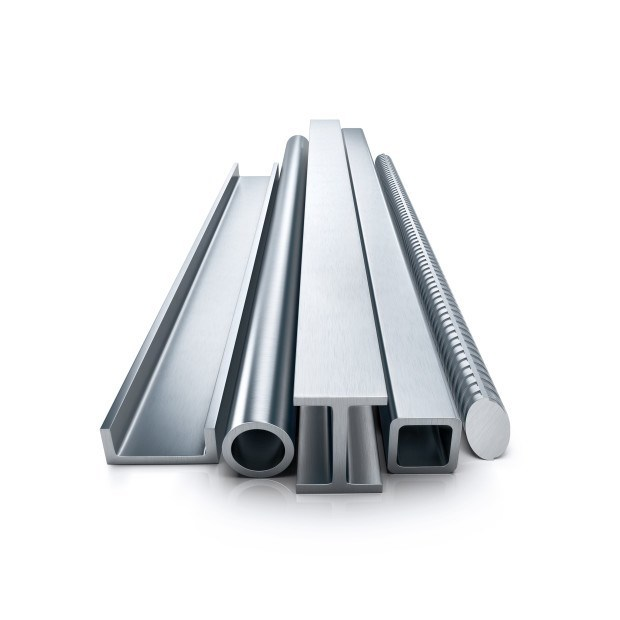 Rolled metal products. Isolated on white background