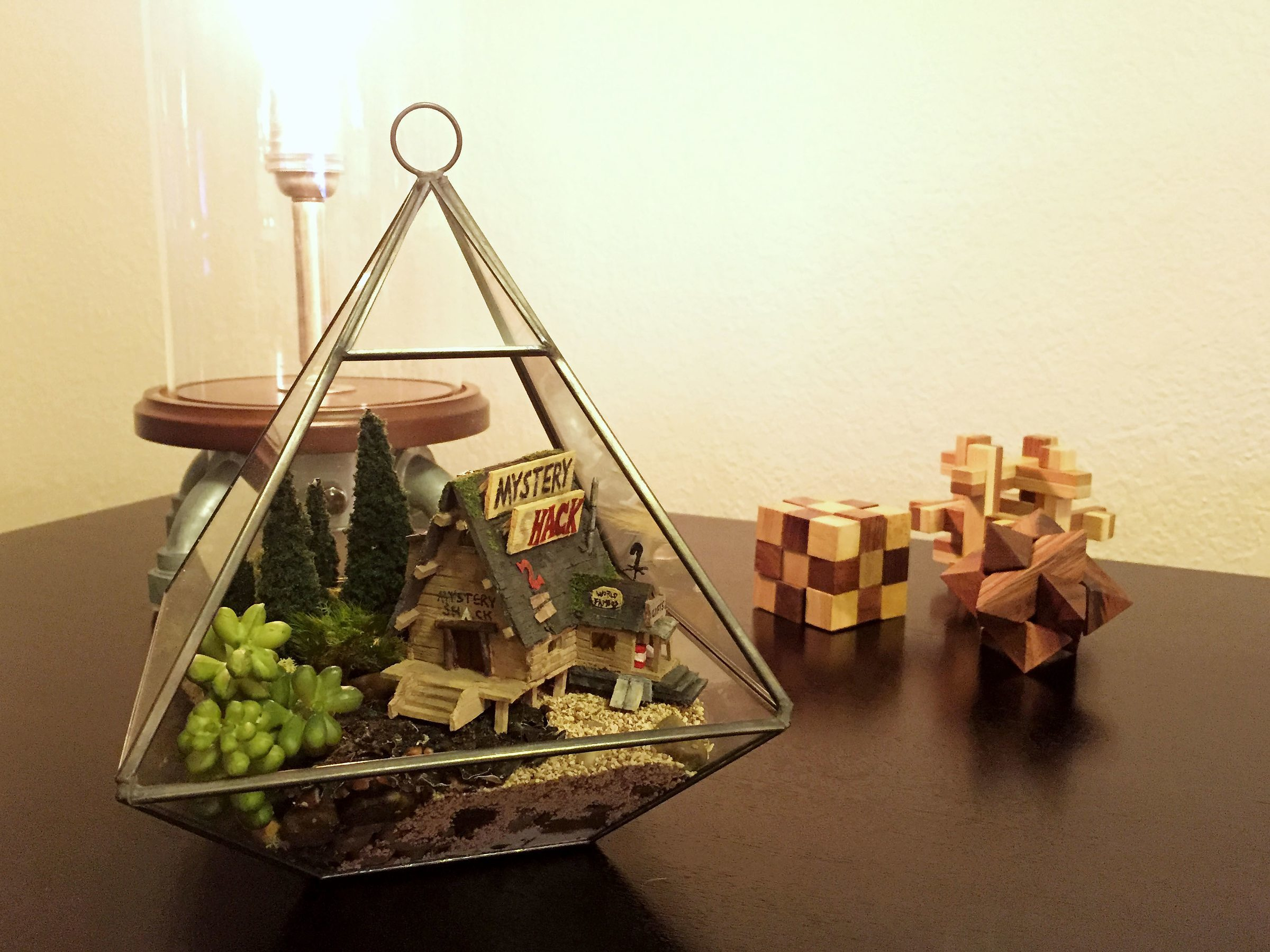 Learn How To Build This Gravity Falls Themed Terrarium
