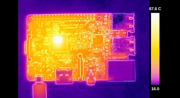 Thermal image of the Raspberry Pi 3