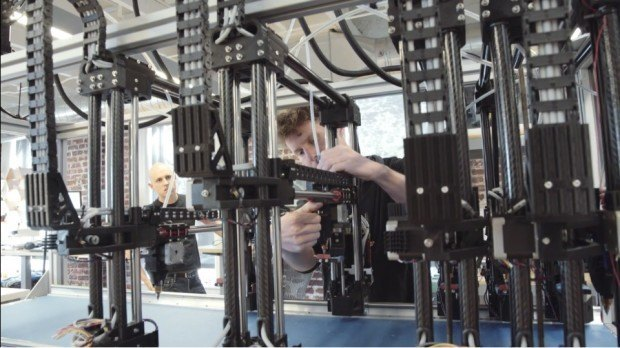 Project Escher is made up of different independent 3D printers