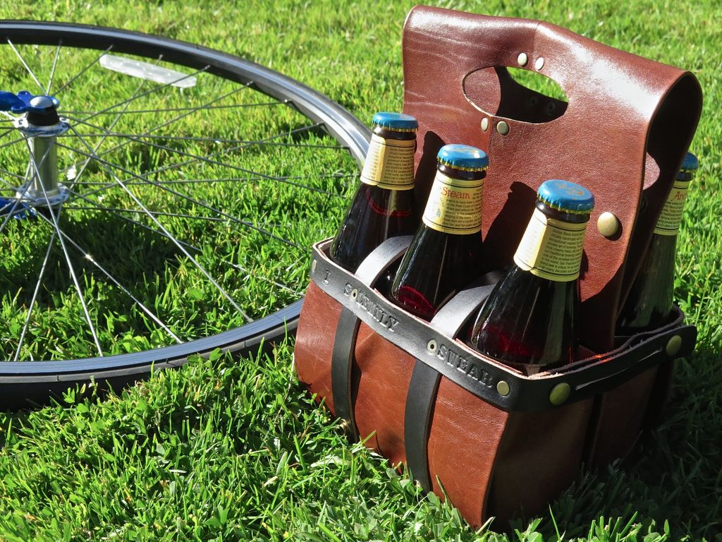 Learn Leathercraft and Make a Converting Wine and Beer Carrier