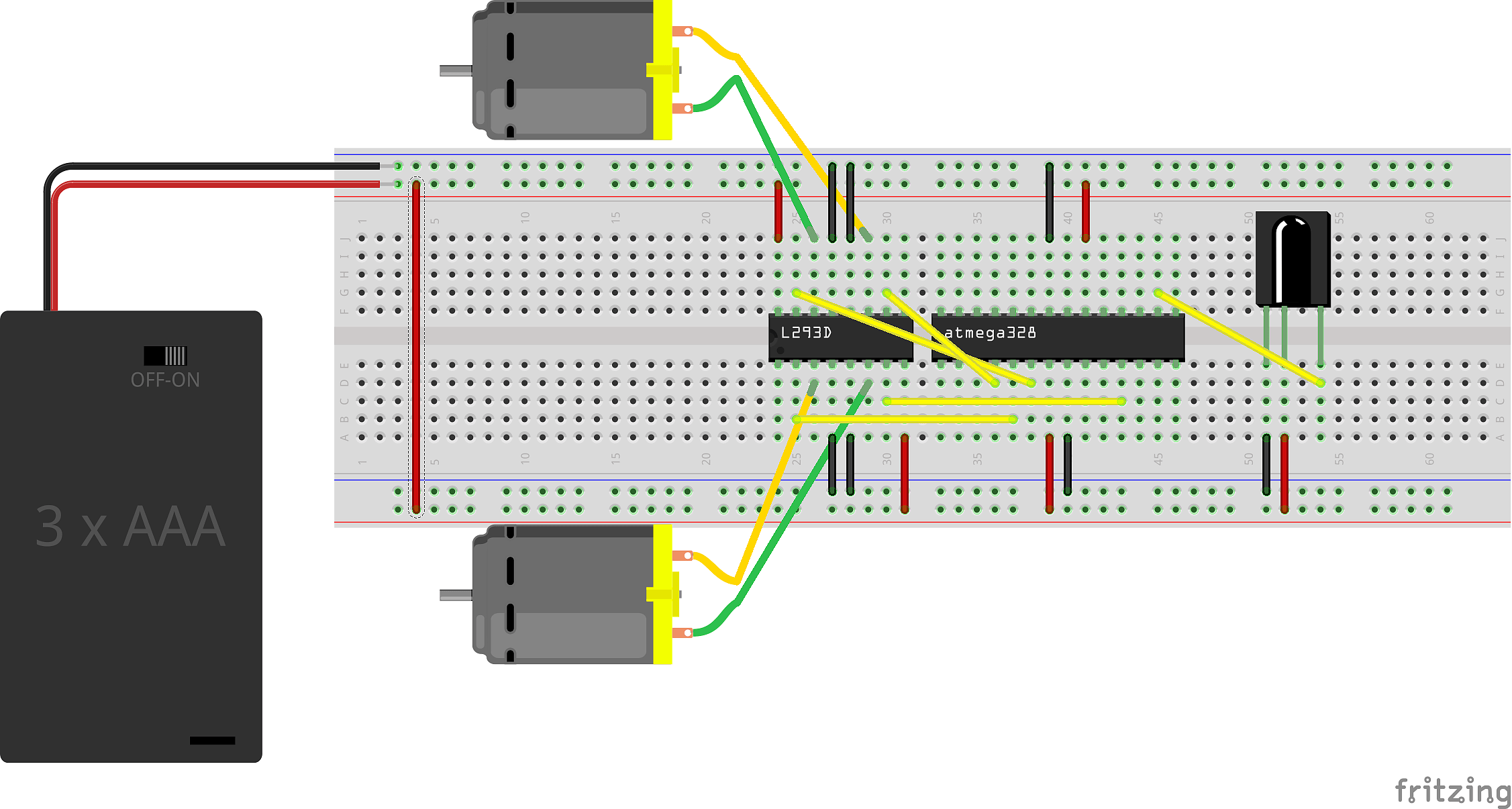 Strap A Robot To Your Face Expressions Are Now Controlled By How Build Electronic Candle Blow Out Schematic Move The Data Connections That Currently Attached Arduino So They Connect Atmega328 Chip Instead Per This Diagram