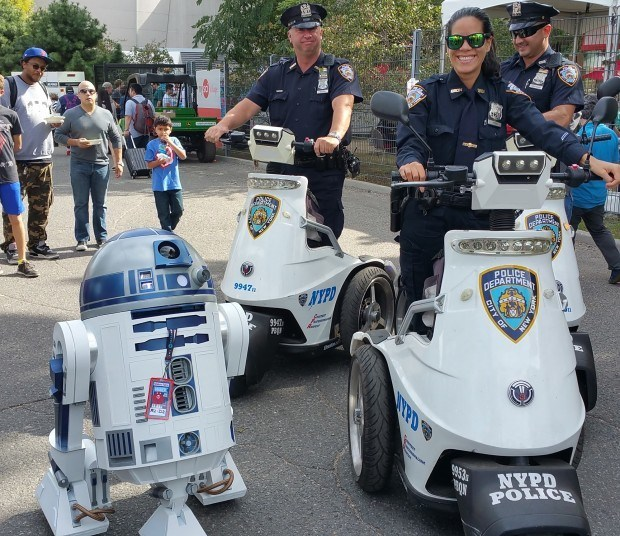 With New York's Finest at World Maker Faire in New York