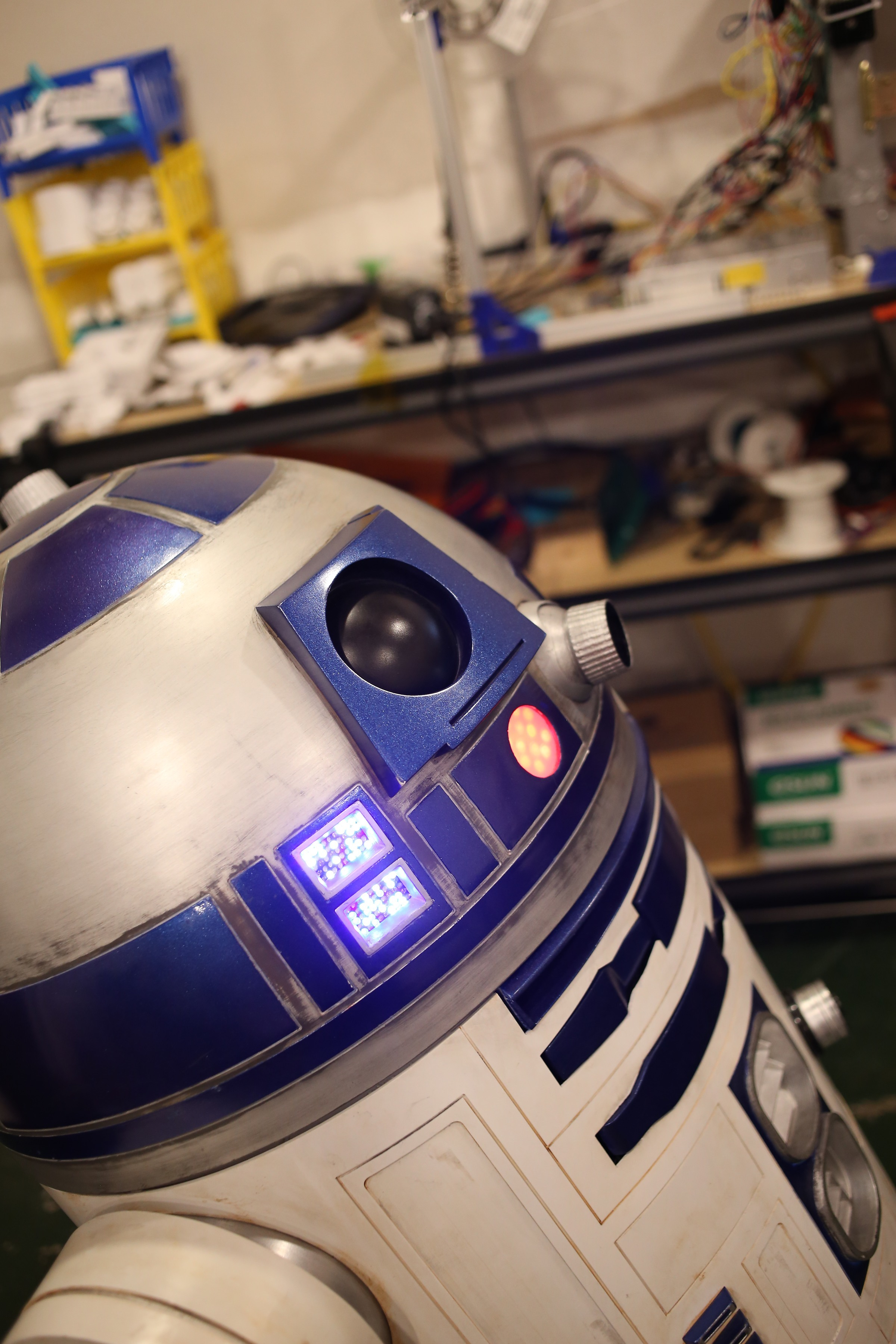 The Comprehensive Guide To Building A Realistic R2 D2 Replica Make Receiver Board Circuit Pcb Rc Quadcopter Spare Parts New Ebay This By Andrew Radovich Has Over 144 3d Printed Photo Courtesy Of Jennifer Micheletti From Roadside Morning Glory