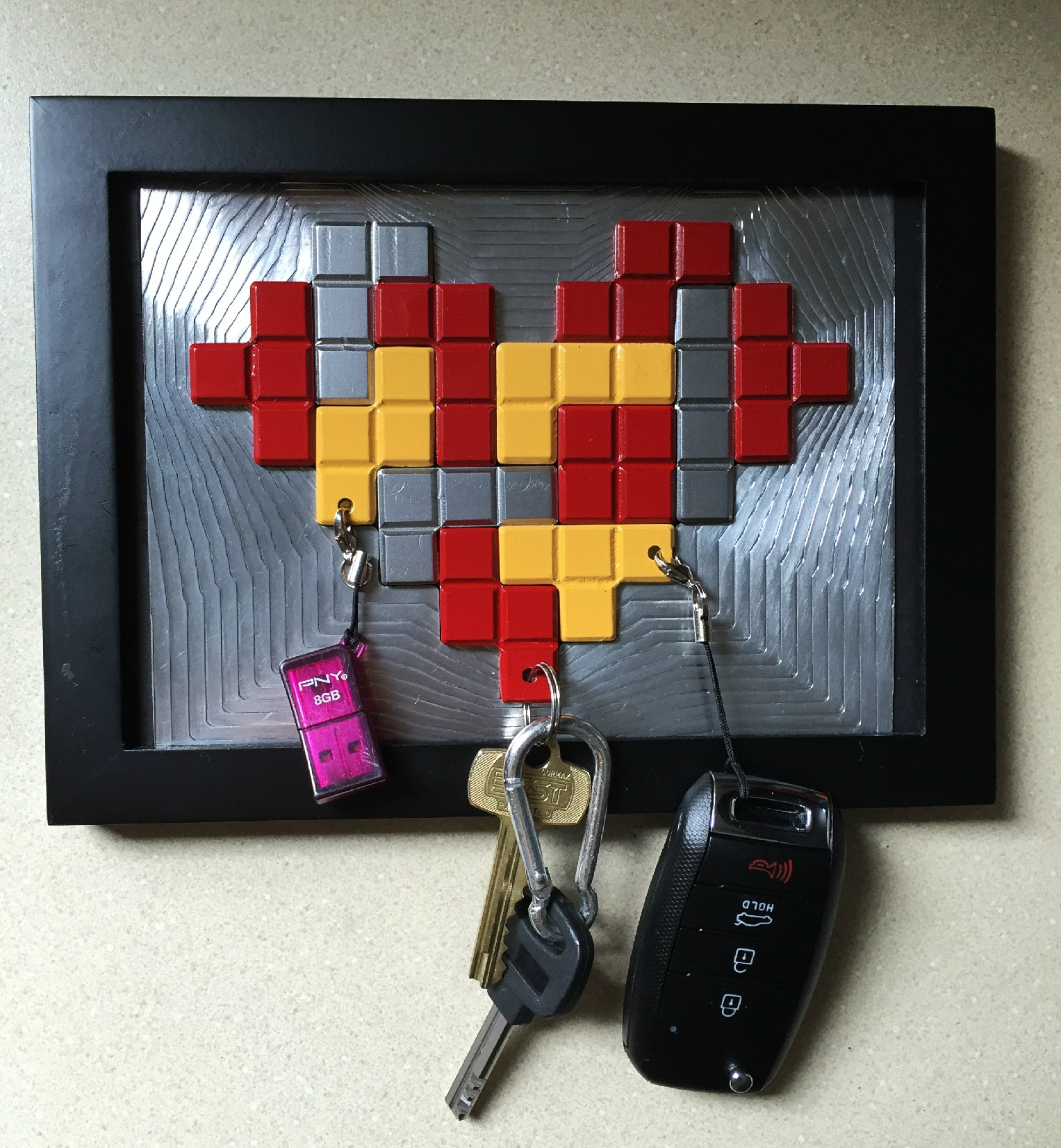 This Clever Key Holder Mixes Tetris and Magnets