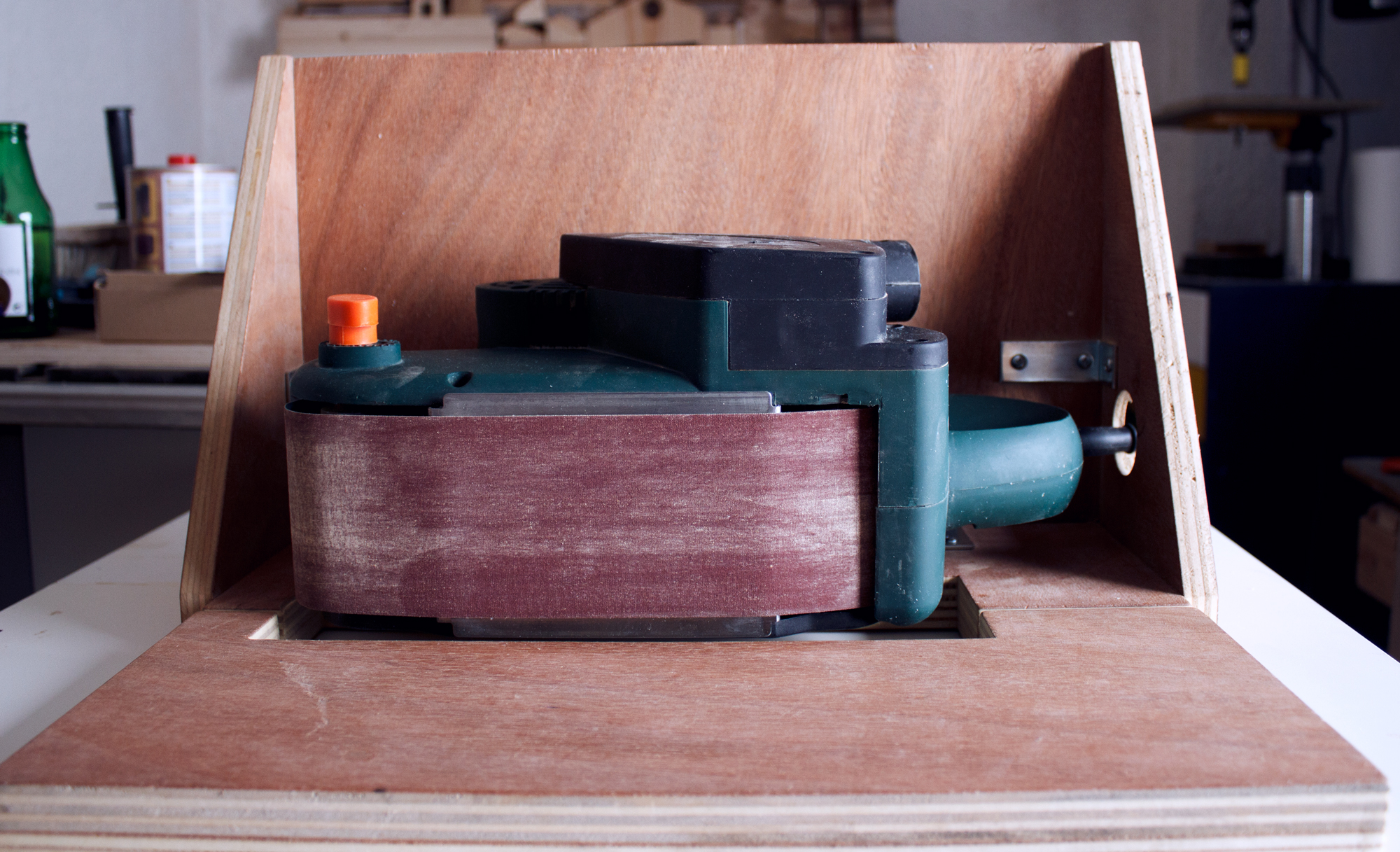 Add Versatility to Your Belt Sander with a DIY 3-Position Stand