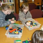 Legos, like those available at the Catherine Dickson Hofman Library in Blairstown, are always a popular building toy at Maker events. Photo credit: Patti-Ann Lally