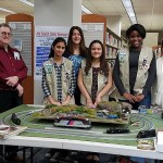 Makers of all kinds attended NJ Makers Day 2016, like Girl Scout Troop 80849 who volunteered for the day. Miniature trains were popular at many locations. Photo credit: Sandra Roberts