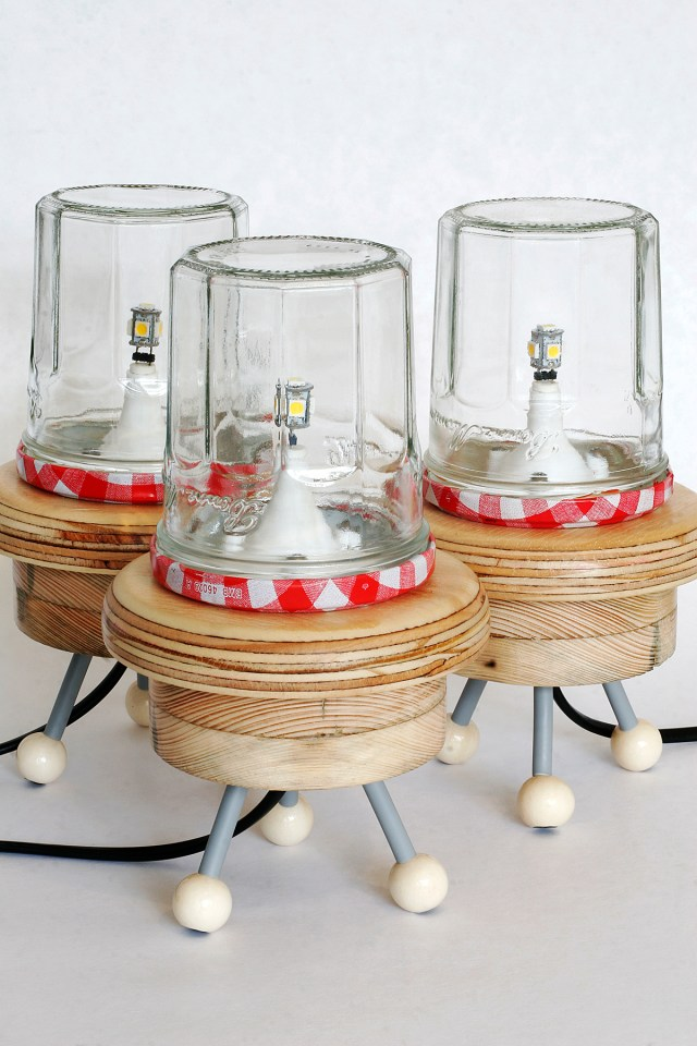 These Upcycled UFO Lamps Are Retro-Futuristic Fabulous