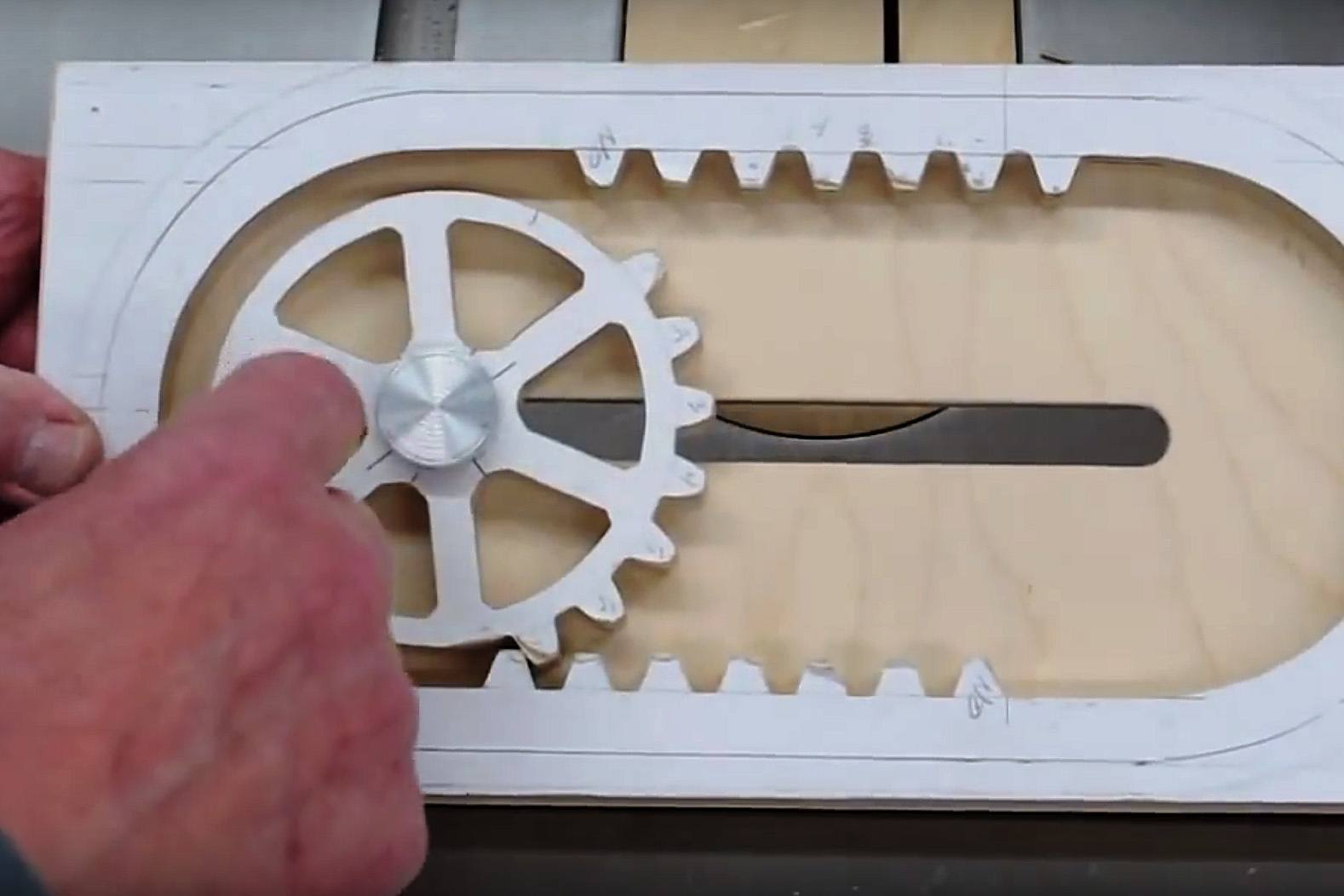 How It S Made A Wooden Reciprocating Rack And Pinion Make