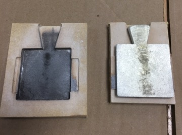 Open the mold for the cnc milling pewter casting project.