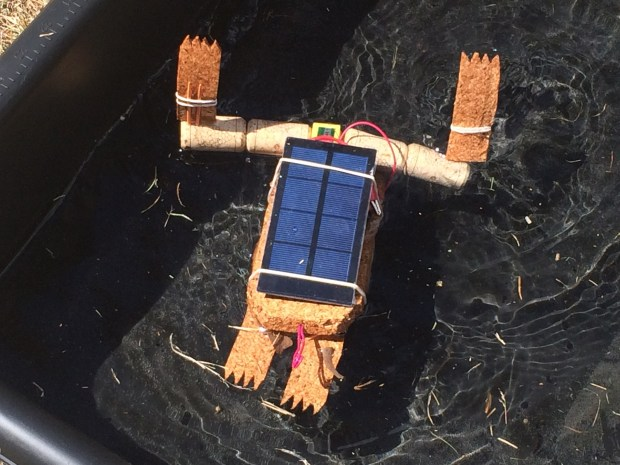 I'm digging these little aquatic solar-powered frog bots. You can make one at Cardboard Robots in Zone 4 (Lisa 4:39pm)
