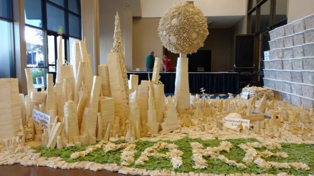 Tapigami is made completely from masking tape.