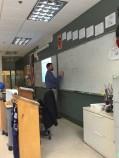 Daniel Paradise in his Freshman Physics Classroom