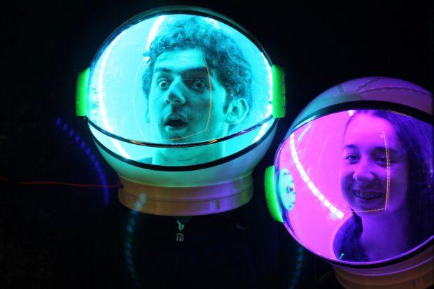 Space Helmet Selfies (3:18pm, Alasdair Allan)