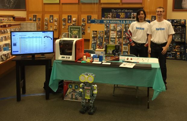 Hacklab at the first Barnes and Noble Mini Maker Faire