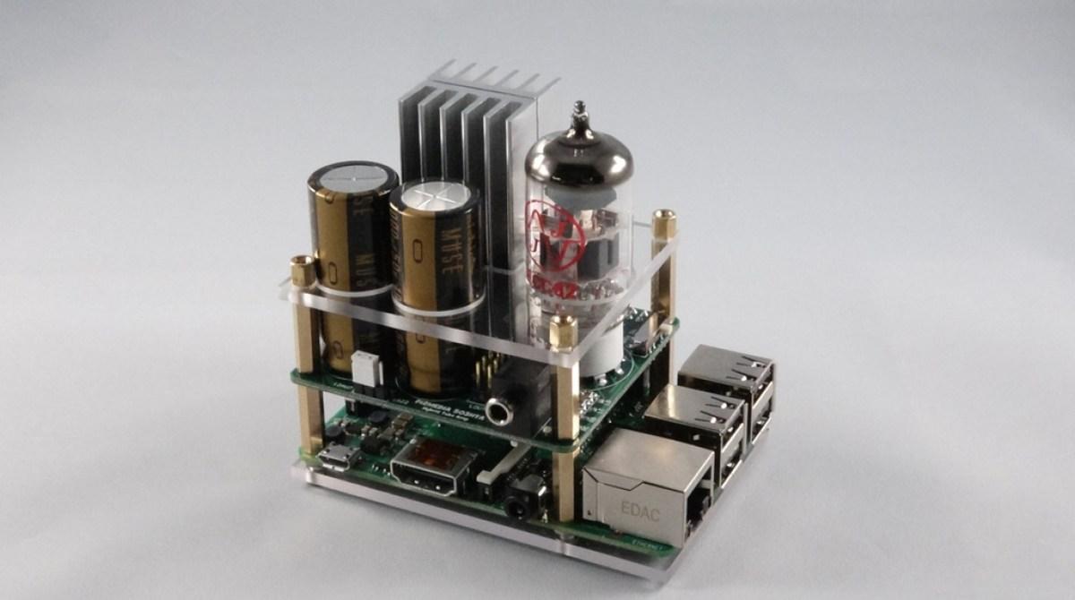 Raspberry Pi Gets a Vacuum Tube Amp Audio Add-On Board   Make: