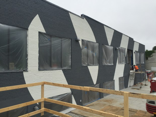 Supergraphic on north wall. Photo by Will Holman