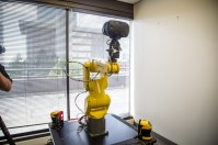 This robot arm helps assess the accuracy of the tracking systems