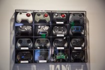 Steam controller prototypes on display.