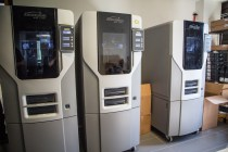 These 3d printers are in use nearly constantly.