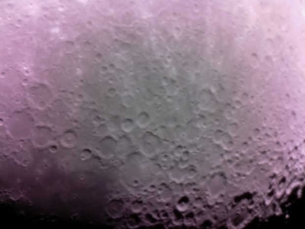 These moon photos were taken by Scott Miller with his PiKon telescope.