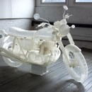 This Artist 3D Printed a Ghostly, Life-Size Motorcycle