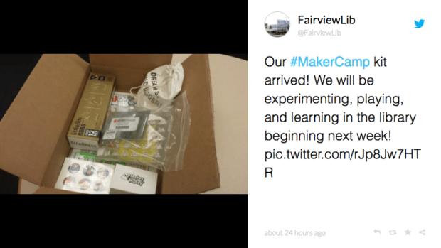 Fairview Libary Maker Camp