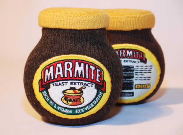 Gibson's soft sculptures of Marmite!