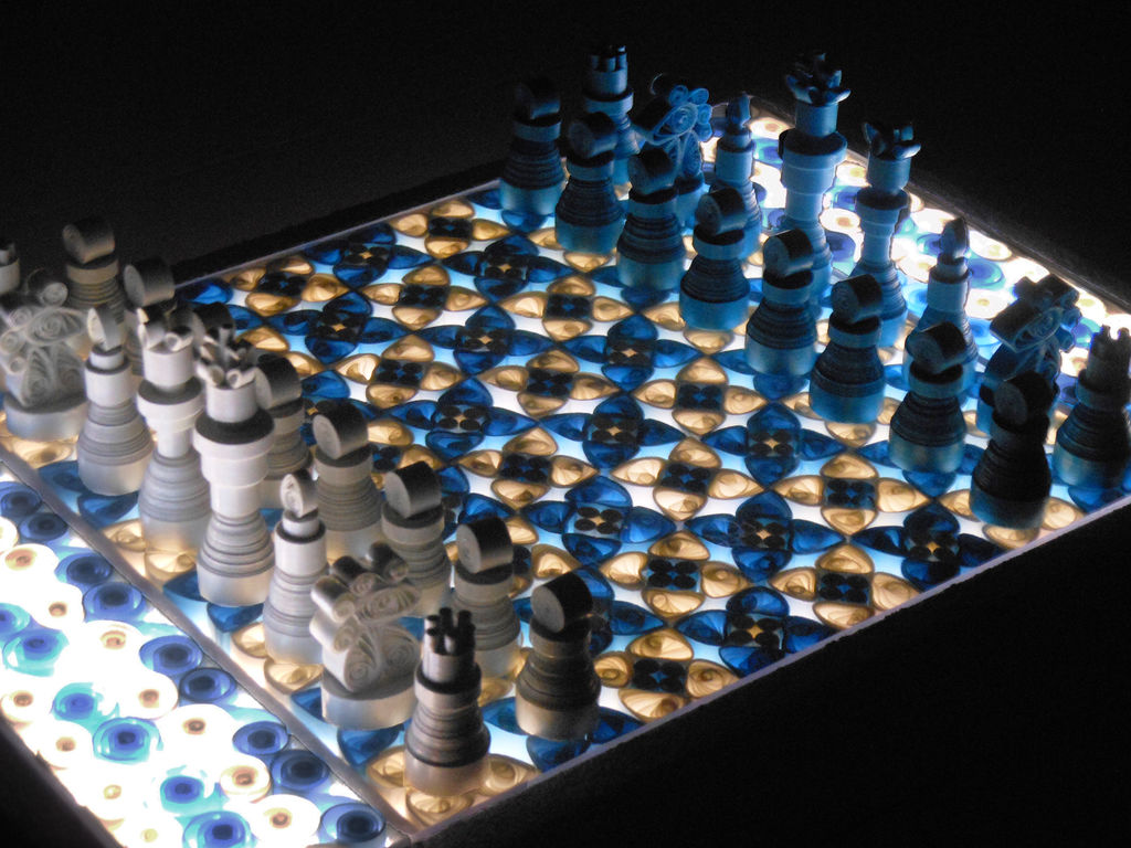 Making a Quilled Paper Chess Set with Light-Up Board