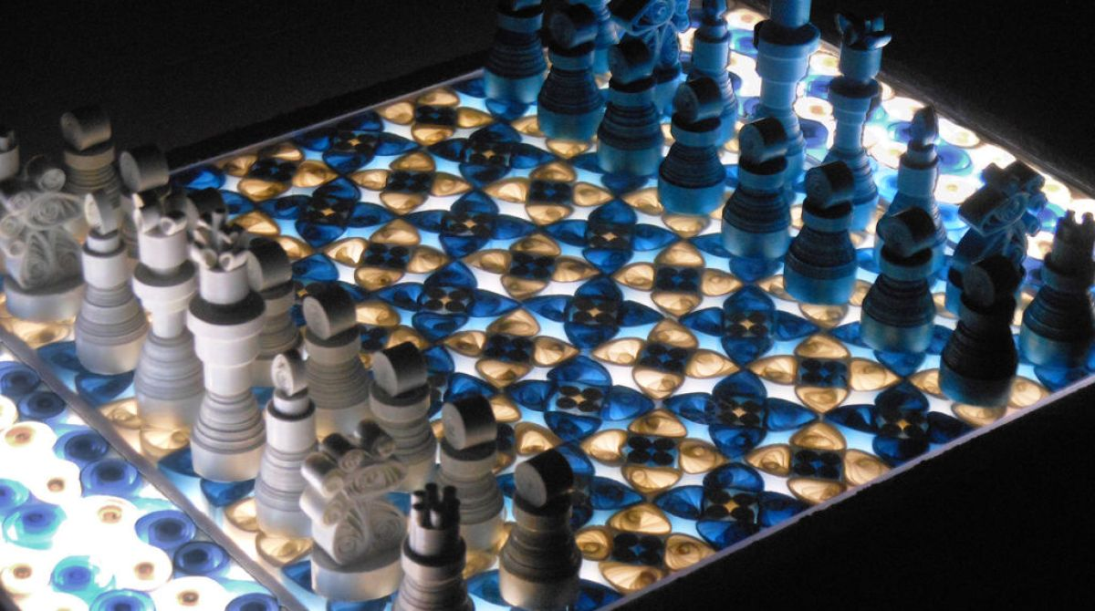 Making A Quilled Paper Chess Set With Light Up Board Make