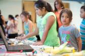 """""""We send our AmeriCorps Cultural Technology interns to rural libraries across New Mexico to conduct maker days with local communities, and train librarians in new skills."""" (pictured: Farmington, New Mexico)"""