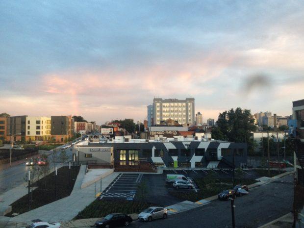 Image- gorgeous sunset photo captured by friend and neighbor Deb Jansen on Instagram @dailyfiber.